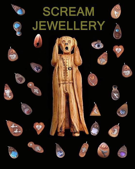 Scream Jewellery Print by Eric Kempson