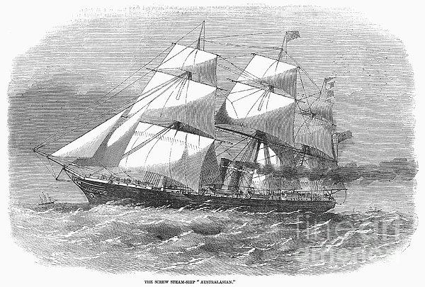 Screw Steamship, 1857 Print by Granger