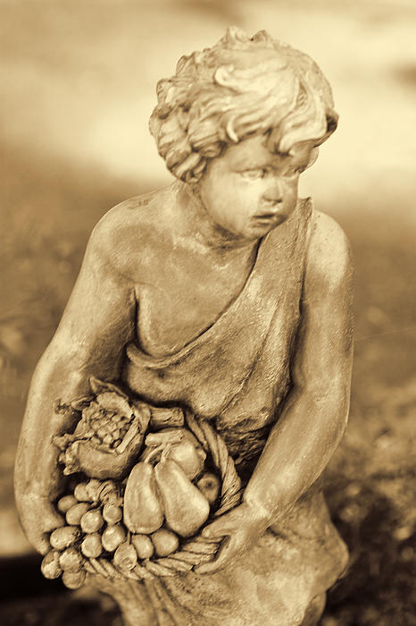 Sculpture In Sepia Print by Linda Phelps