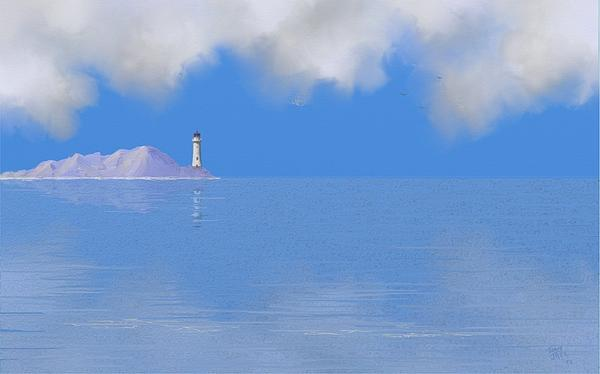 Sea Of Tranquility Print by Tony Rodriguez