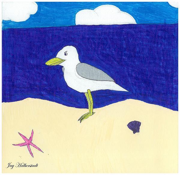 Seagull Print by Jayson Halberstadt