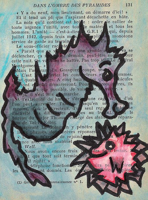 Seahorse Print by Jera Sky