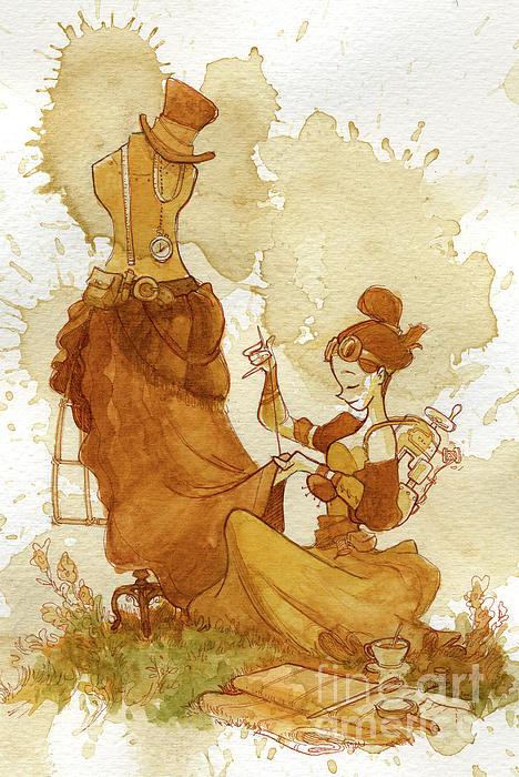 Seamstress Print by Brian Kesinger