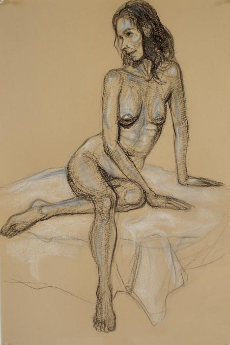 Seated Nude 4 Print by Donelli  DiMaria