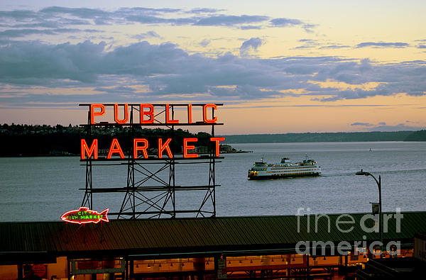 Ed Rooney - Seattle Ferry at Dusk