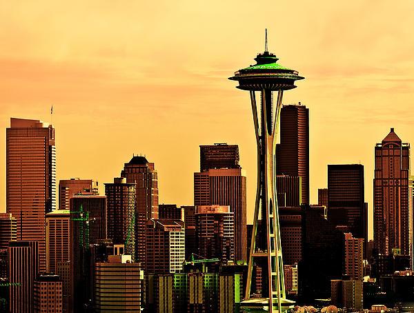Seattle Skyline Print by Vicki Jauron