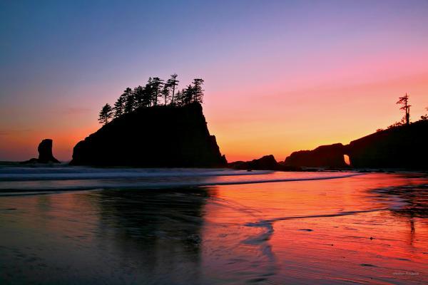 Winston Rockwell - Second Beach Sunset