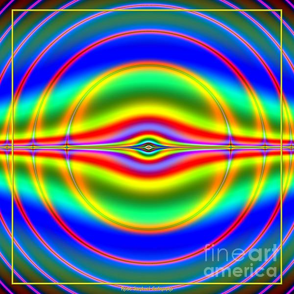 Seeing In Fluorescent Neon Fractal 135 Print by Rose Santuci-Sofranko