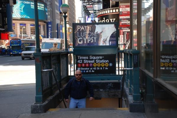 Self At Subway Stairs Print by Rob Hans