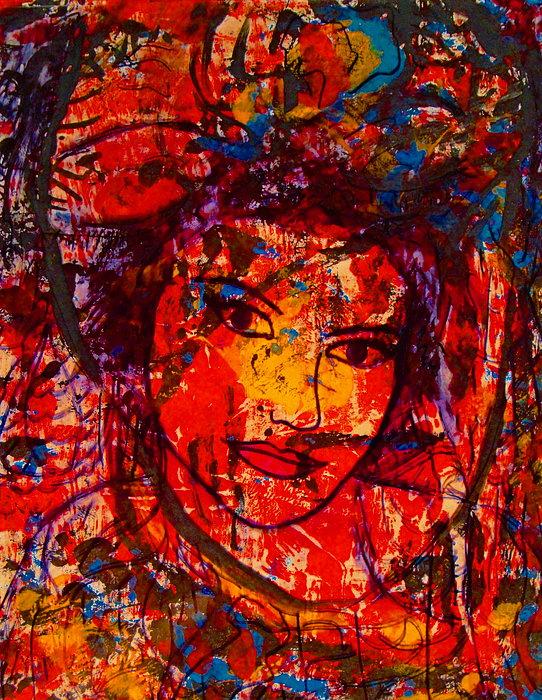 Self-portrait-5 Print by Natalie Holland