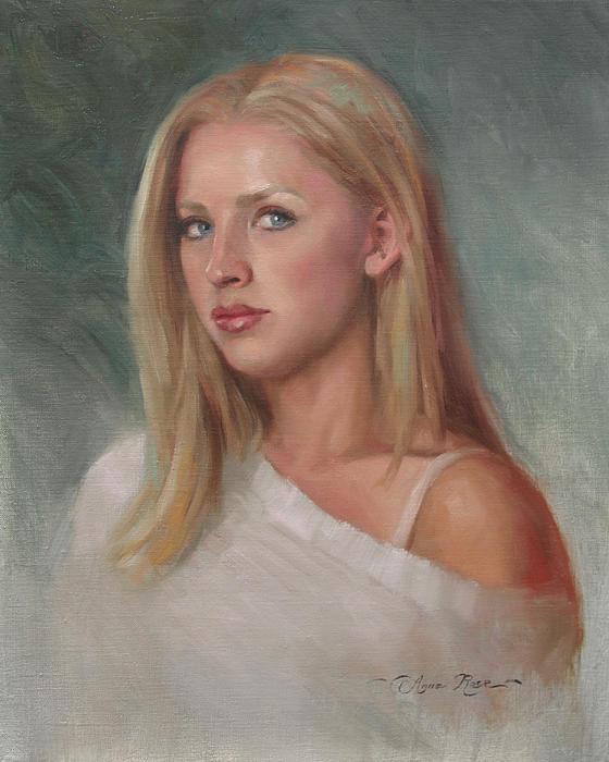 Self Portrait Print by Anna Bain