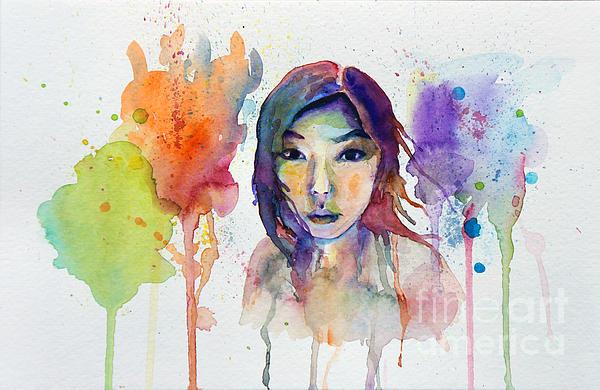 Marie Jeon - Self Portrait in Watercolor