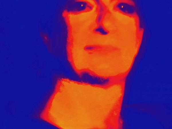 Self Portrait On Fire For The Future Print by Carolina Liechtenstein