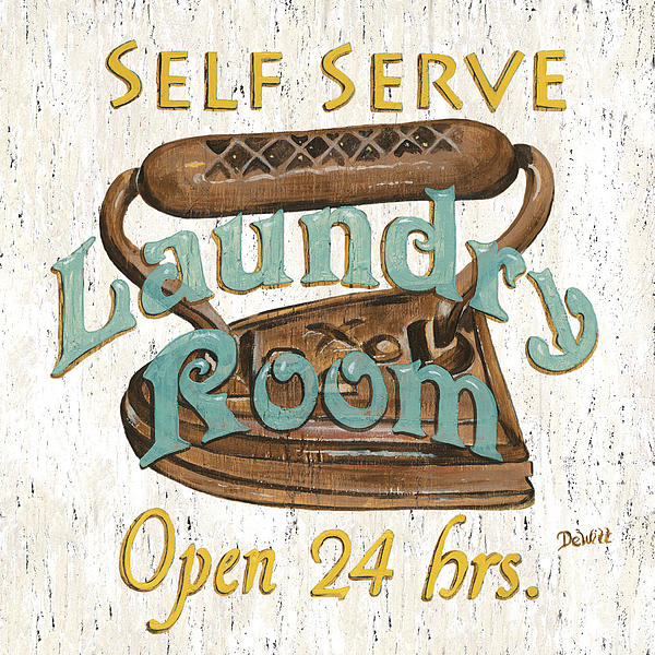 Self Serve Laundry Print by Debbie DeWitt