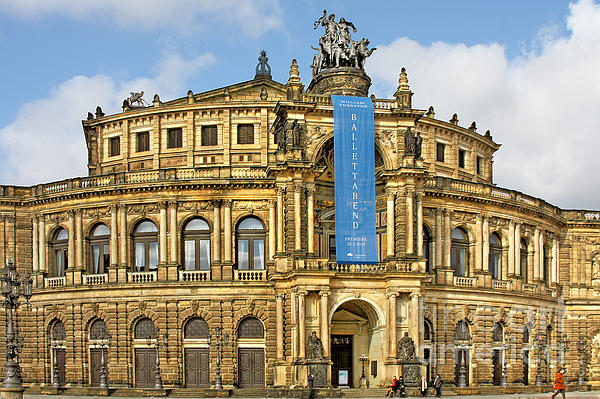 Semper Opera House Dresden Print by Christine Till