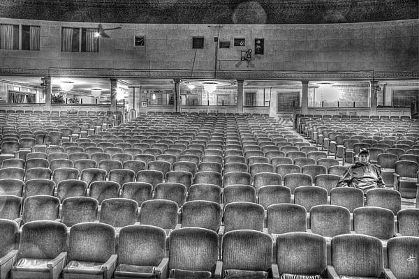Senate Theatre Seating Detroit Mi Print by Nicholas  Grunas