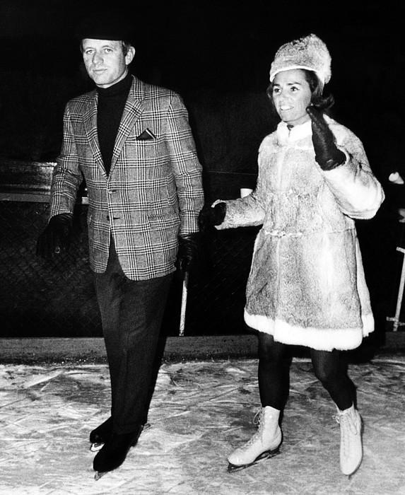 Senator Robert F. Kennedy And Ethel Print by Everett