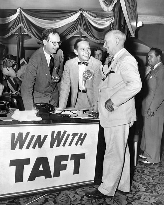 Senator Robert Tafts Two Sons Promote Print by Everett