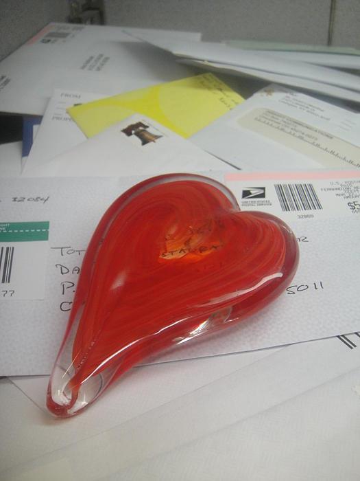 Sending You My Heart Through The Mail Print by WaLdEmAr BoRrErO