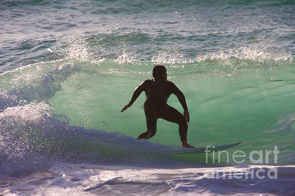 Sennen Cove Surf Print by Ed Lukas
