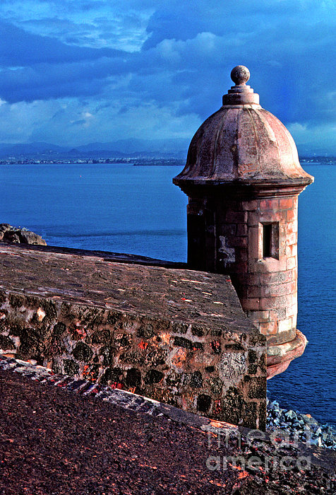 Sentry Box El Morro Fortress Print by Thomas R Fletcher