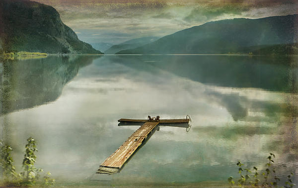 Kym Clarke - Serene Lake with textures