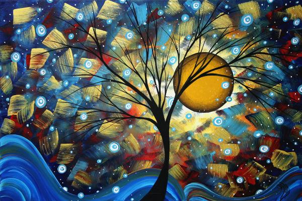 Serenity Falls By Madart Print by Megan Duncanson
