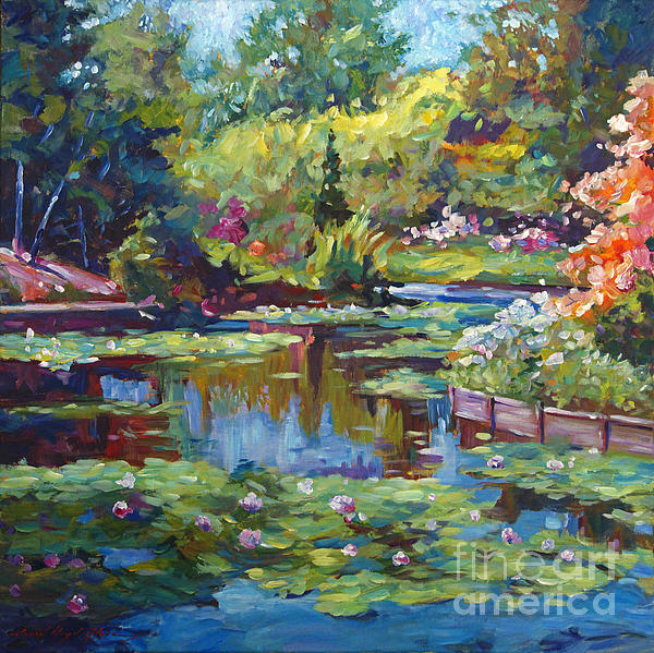 Serenity Pond Print by David Lloyd Glover