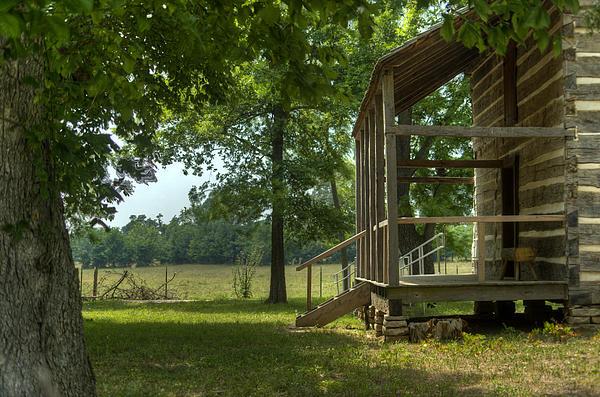 Settlers Cabin Arkansas 1 Print by Douglas Barnett