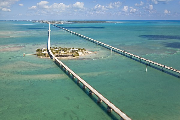 Seven Mile Bridge Crossing Pigeon Key Print by Mike Theiss