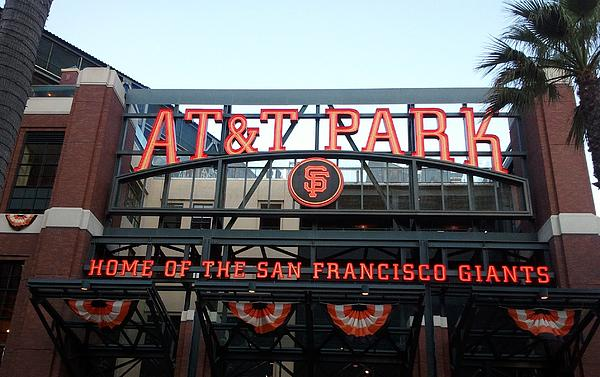 Sf Giants Stadium Print by Kathleen Fitzpatrick