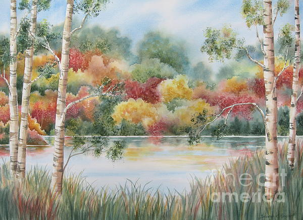 Shades Of Autumn Print by Deborah Ronglien
