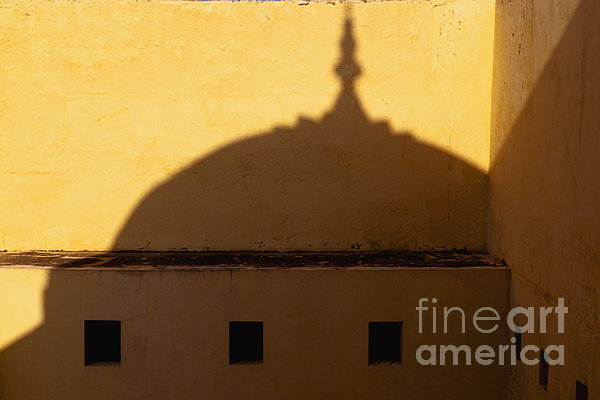 Shadow Cast On The Amber Fort Print by Inti St. Clair