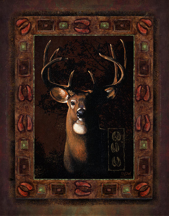 Shadow Deer Print by JQ Licensing