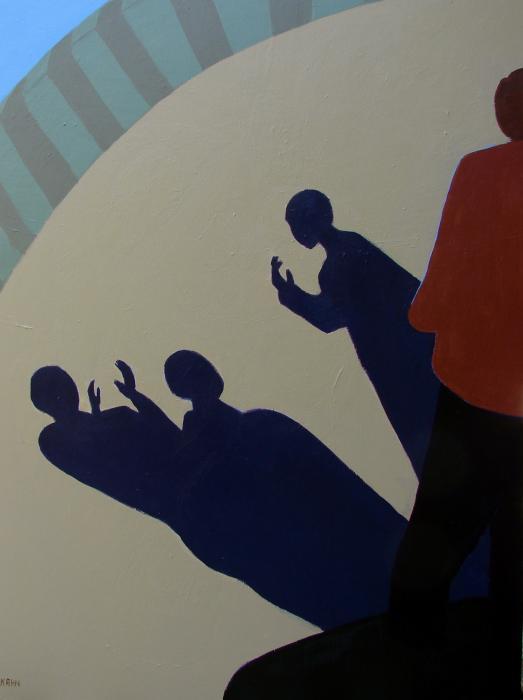 Shadow Talk Print by Renee Kahn