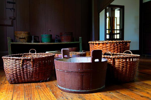 Shaker Baskets Print by Lone  Dakota Photography