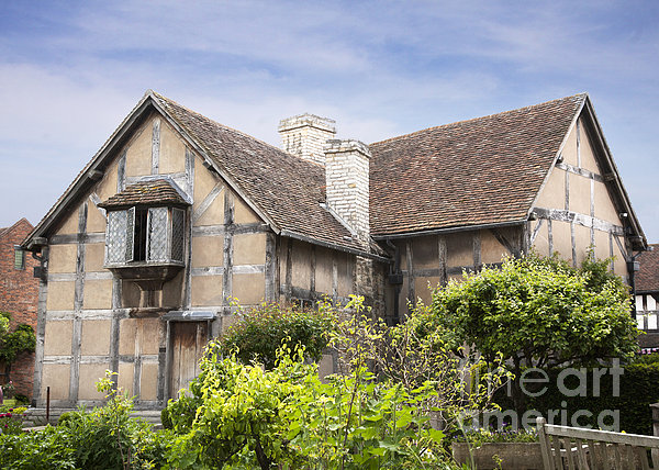 Shakespeare's Birthplace. Print by Jane Rix