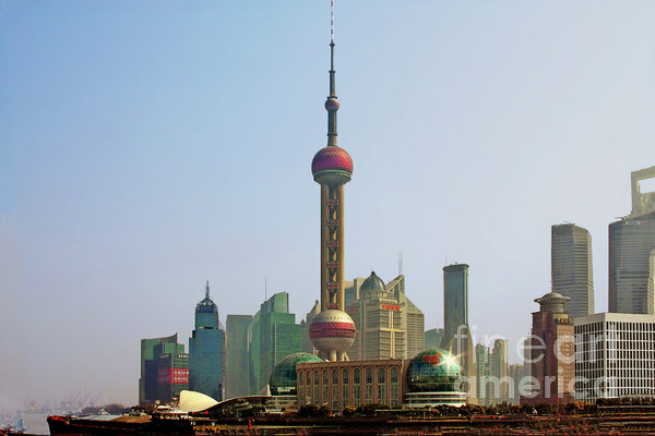 Shanghai Pudong - Today Denser Than Yesterday But Less Than Tomorrow Print by Christine Till