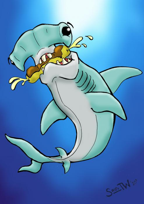 Sharks That Eat Cake Hammerhead Digital Art  - Sharks That Eat Cake Hammerhead Fine Art Print