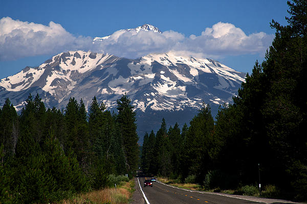 Shasta On The Road Again Print by BuffaloWorks Photography