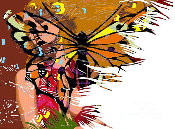 She Gave Me Butterflies Print by Robert Jensen