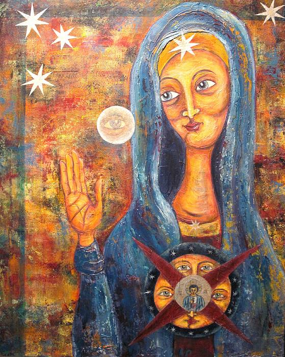 She Sees And Blesses All Print by Suzan  Sommers