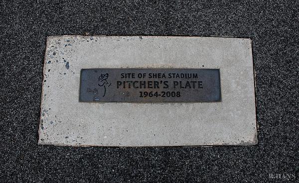 Shea Stadium Pitchers Mound Print by Rob Hans