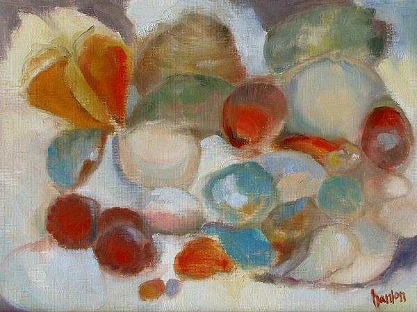 Shell Impression IIi Print by Susan Hanlon