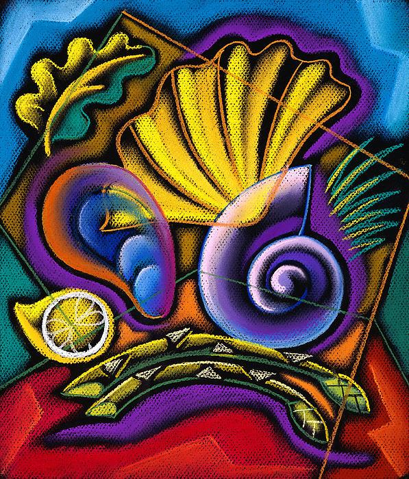 Shellfish Print by Leon Zernitsky