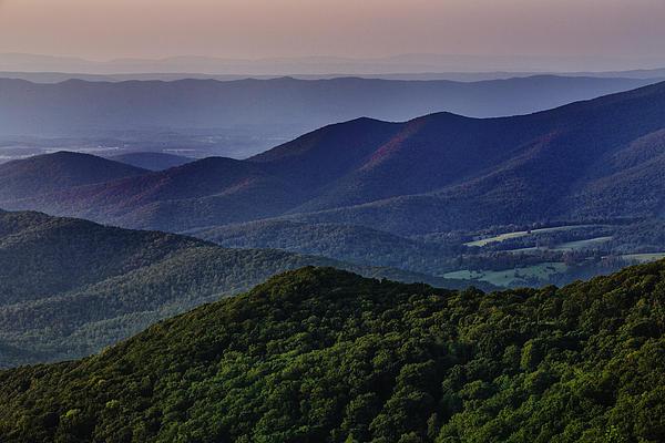 Shenandoah Valley At Sunset Print by Rick Berk
