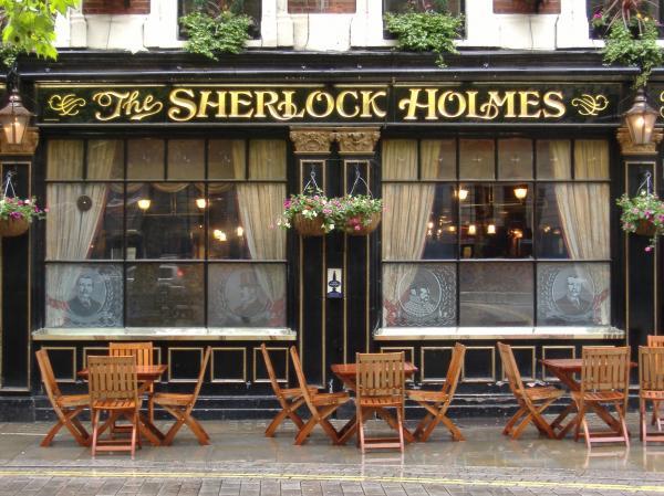 Sherlock Holmes Pub By Wendy Housholder