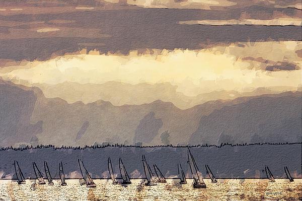 Shilshoe Marina Races 3 Print by Arthur Kuntz