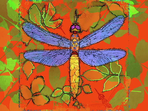 Shining Dragonfly Print by Mary Ogle