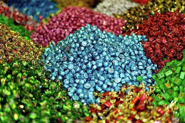 Shiny Sweets In Spice Market Print by Image by Damian Bettles